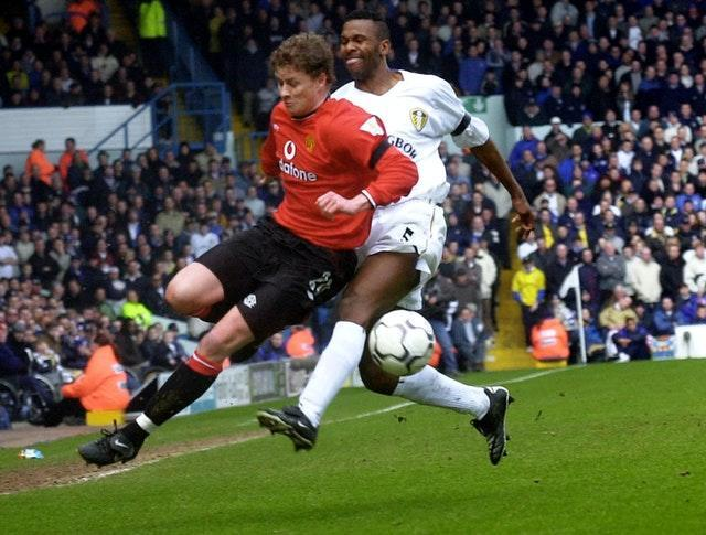 Ole Gunnar Solskjaer enjoyed the challenge of playing Leeds