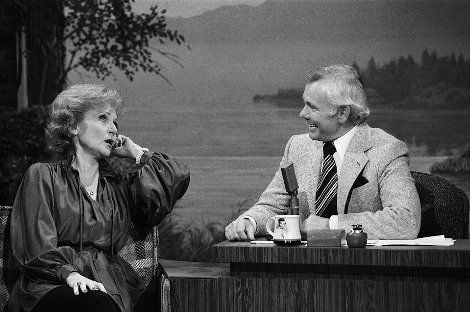<p>In 1977, after the end of <em>The Mary Tyler Moore Show</em>, White (seen here as a guest on <em>The Tonight Show Starring Johnny Carson)</em> was offered her own show, again named <em>The Betty White Show</em>, but it only lasted one season. </p>