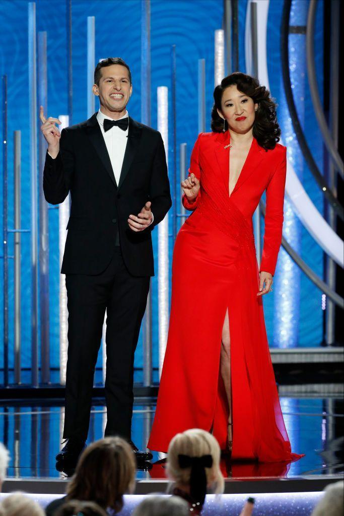 """<p>Awards shows wouldn't be the same without a bit that calls for audience participation, but this doesn't always go over so well. In 2019, hosts Sandra Oh and Andy Samberg tried to go the extra mile by offering <a href=""""https://twitter.com/accessonline/status/1082092358227787777"""" rel=""""nofollow noopener"""" target=""""_blank"""" data-ylk=""""slk:free flu shots"""" class=""""link rapid-noclick-resp"""">free flu shots</a> on the spot, prompting people wearing white lab coats to walk into the crowd with syringes. Most notably, actor <a href=""""https://twitter.com/kvanaren/status/1082092355430371333"""" rel=""""nofollow noopener"""" target=""""_blank"""" data-ylk=""""slk:Willem Dafoe"""" class=""""link rapid-noclick-resp"""">Willem Dafoe</a> was caught looking confused before the show cut to commercial.</p>"""
