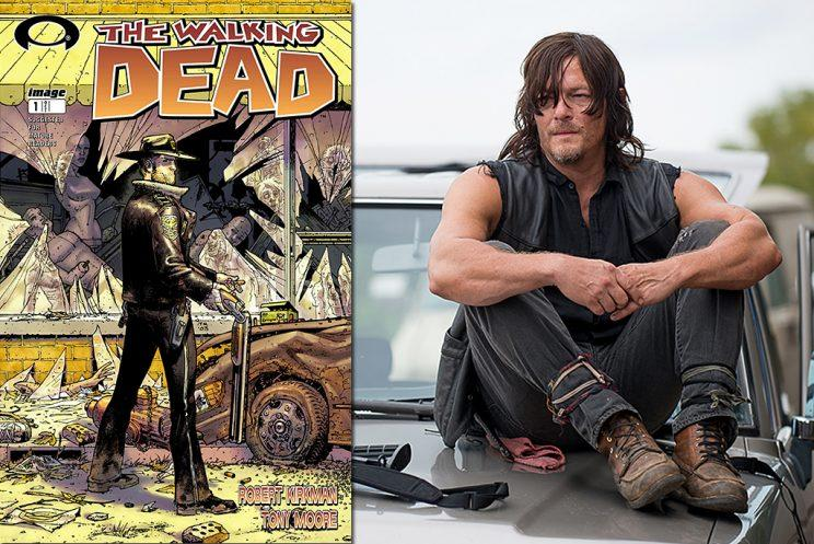'The Walking Dead' issue #1 and Norman Reedus as Daryl Dixon in AMC's 'The Walking Dead' (Photo Credit: Gene Page/AMC)