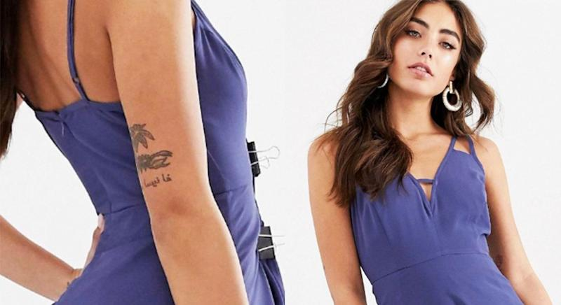 This ASOS DESIGN photo shoot showed off more than the retailer bargained for. [Photo: ASOS]