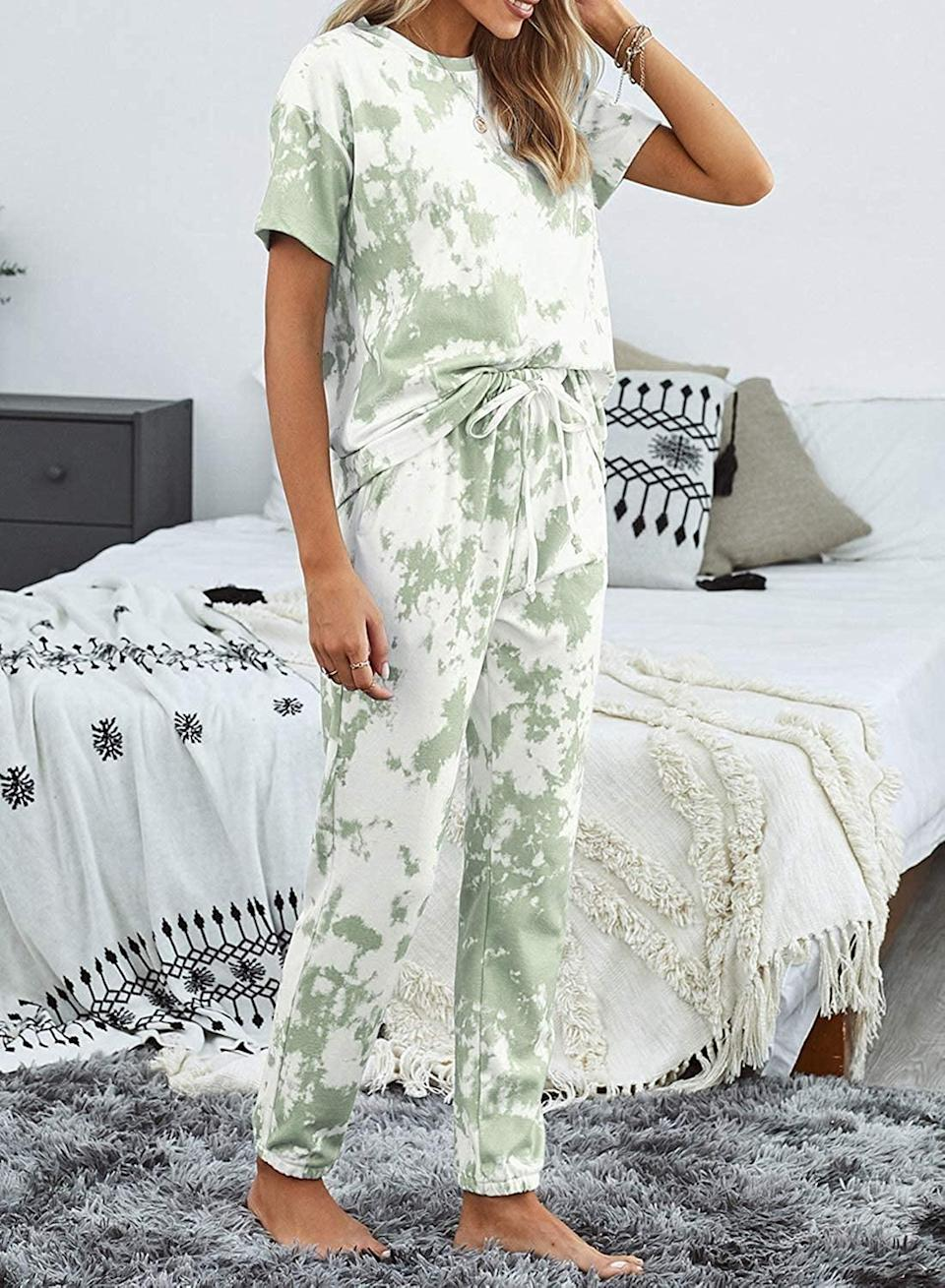 <p>This <span>Asvivid Tie-Dye Lounge Set</span> ($34) is so comfy.</p>