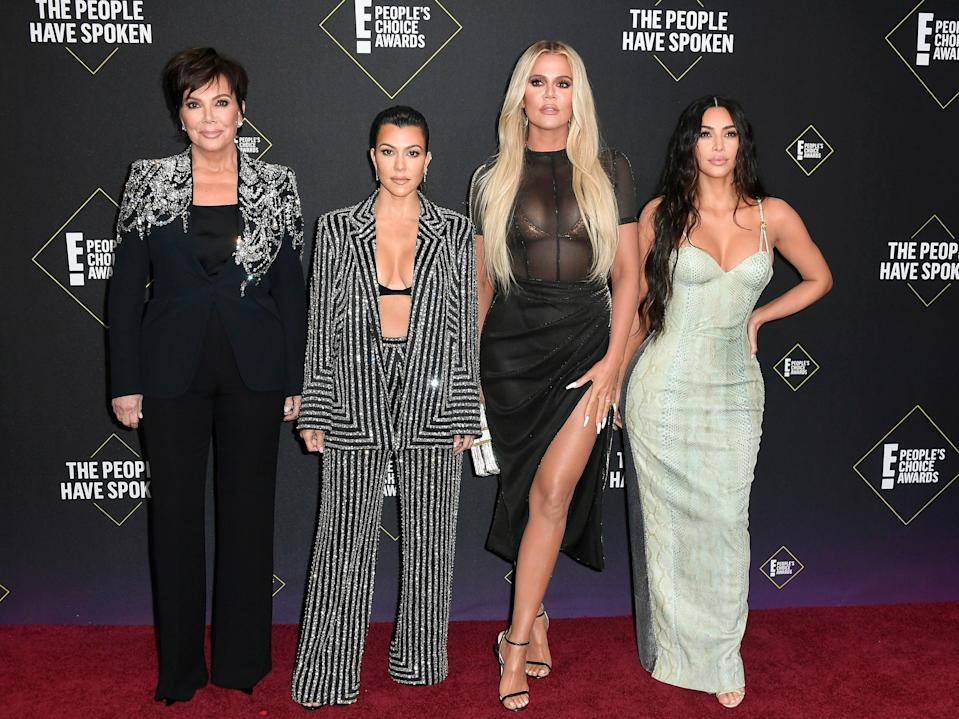 <p>The Kardashians ignore Covid-19 guidelines on Thanksgiving</p> (Getty Images)