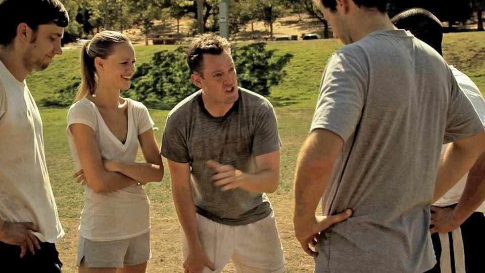"""<p>Not to be confused with the other movie called <em>The Turkey Bowl</em>, this movie is a comedy about a group of college friends whose yearly game of touch football gets intensely personal. (You know how these things get with insular groups of friends.) </p><p><a class=""""link rapid-noclick-resp"""" href=""""https://www.vudu.com/content/movies/details/Turkey-Bowl/197533"""" rel=""""nofollow noopener"""" target=""""_blank"""" data-ylk=""""slk:STREAM ON VUDU"""">STREAM ON VUDU</a></p>"""