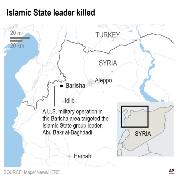 The leader of the Islamic State group, Abu Bakr al-Baghdadi, is believed dead after being targeted by a U.S. military raid in Syria.;