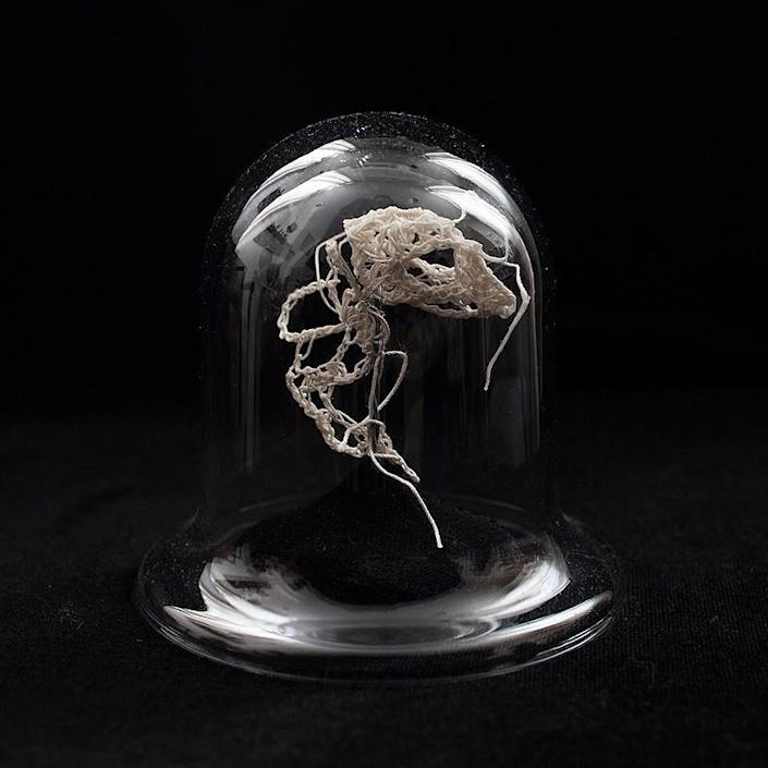 """<p>Many of her sculptures are displayed on black velvet, but some come in a glass case for an authentic skeletal look. (Photo: <a href=""""http://caitlintmccormack.com/home.html"""" rel=""""nofollow noopener"""" target=""""_blank"""" data-ylk=""""slk:Caitlin McCormack"""" class=""""link rapid-noclick-resp"""">Caitlin McCormack</a>)<br></p>"""