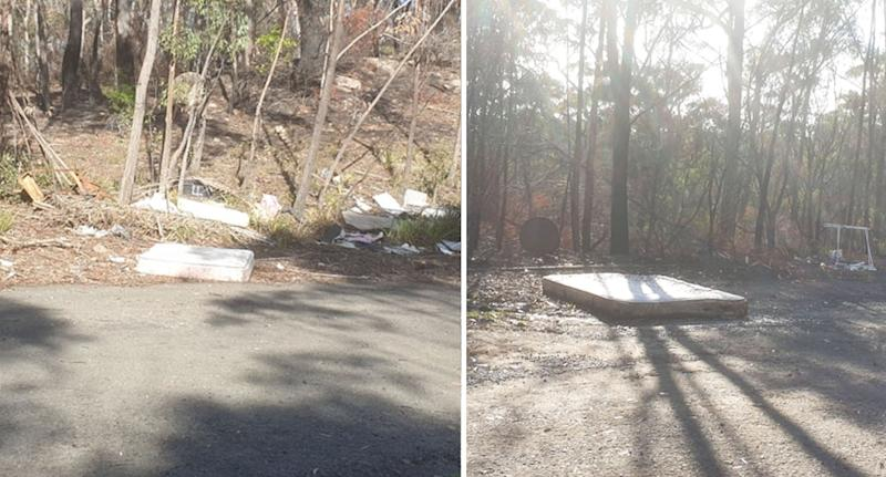 Pictured is two mattresses discarded in the area in Colo Vale.