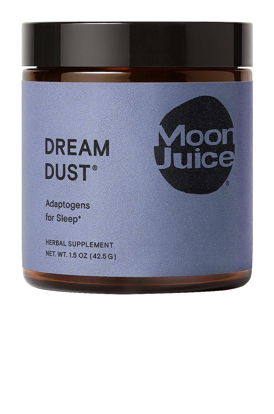<p>Mixing this <span>Moon Juice Dream Dust</span> ($38) with a little warm milk is a great nighttime tonic.</p>
