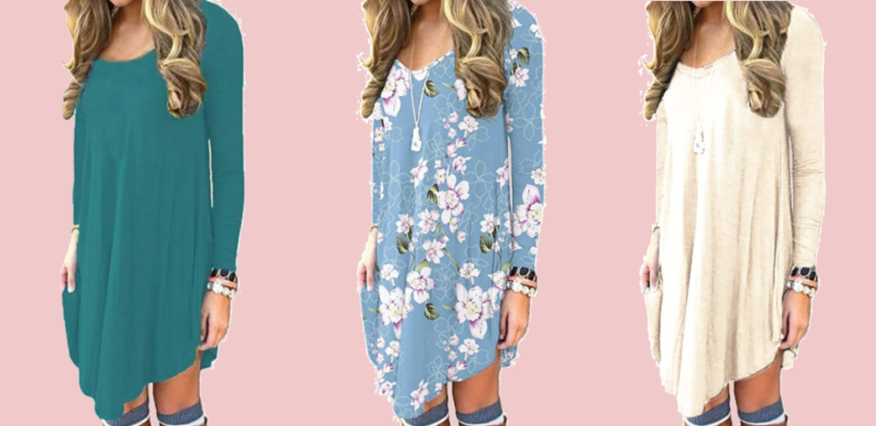 We found a perfect fall dress, and it's just $24! (Photo: Amazon)