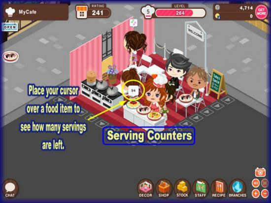 World Chef serving counters