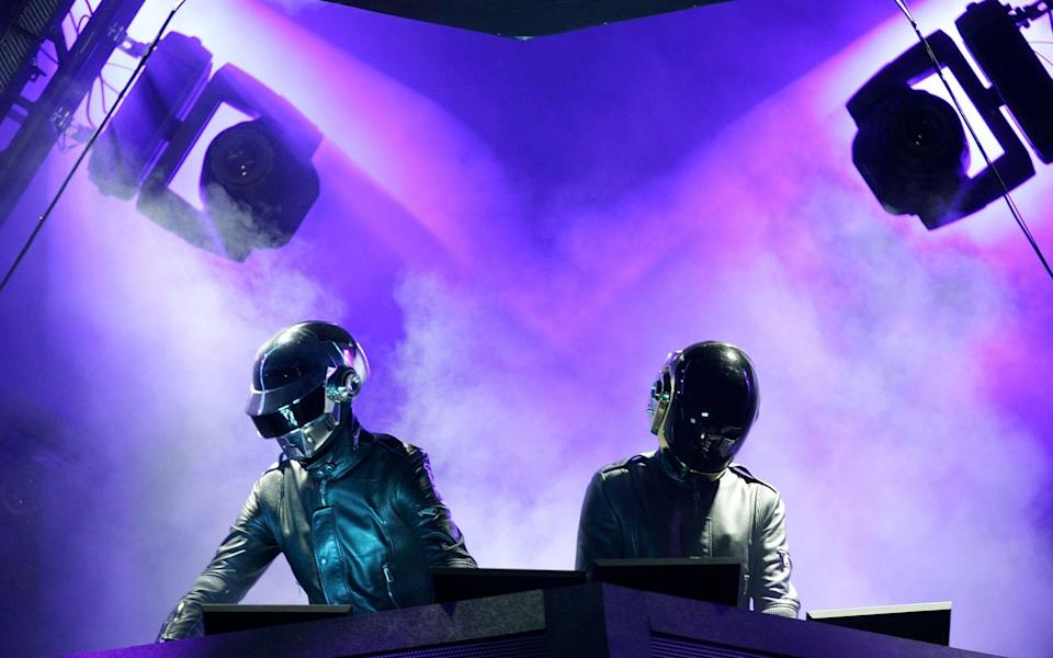 Daft Punk playing live in 2006 - Getty