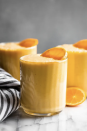 """<p>This orange creamsicle smoothie tastes just like sherbet. All you need is oranges, orange zest, vanilla, and coconut milk to whip it up in your blender. </p><p><em>Per serving: 334 cals, 20.4 g fat, 38.9 g carbs, 24.2 g sugar, 6.5 g fiber, 4.5 g protein</em></p><p><a class=""""link rapid-noclick-resp"""" href=""""https://getinspiredeveryday.com/food/orange-creamsicle-smoothie/"""" rel=""""nofollow noopener"""" target=""""_blank"""" data-ylk=""""slk:Get the recipe"""">Get the recipe</a></p>"""