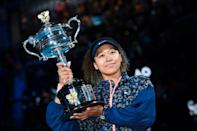 Champion: Japan's Naomi Osaka with the Australian Open trophy