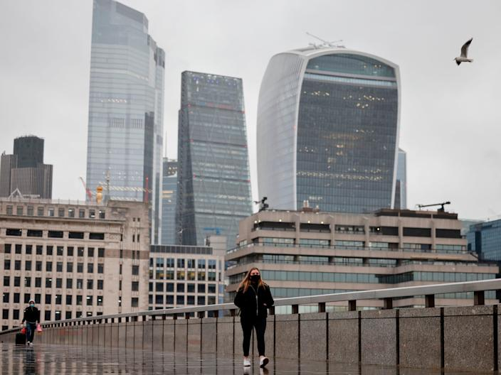 Offices could reopen on or before 17 May, according to Boris Johnson's roadmap out of lockdown (AFP via Getty Images)