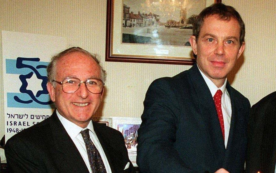 Lord Janner and Tony Blair in 1997 - PA