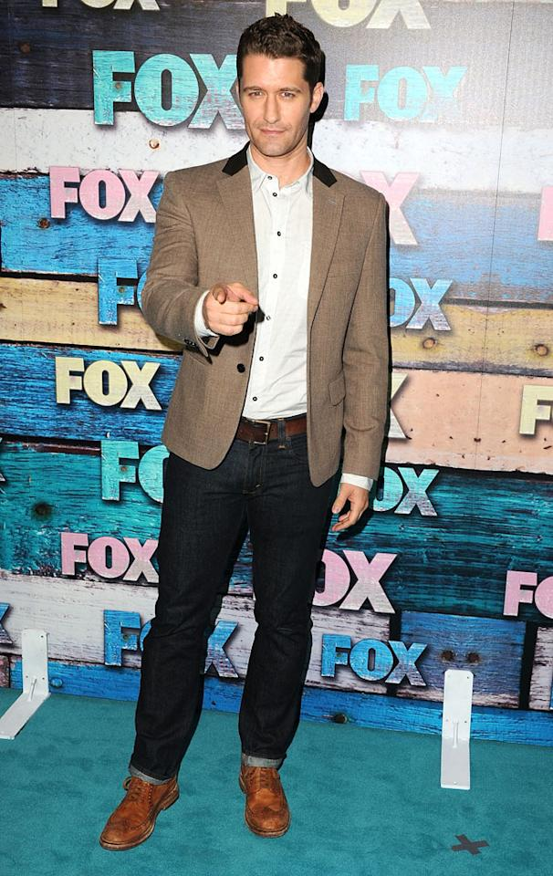 """Matthew Morrison (""""Glee"""") arrives at the Fox Summer 2012 All-Star Party on July 23, 2012 at the Soho House in West Hollywood, California."""