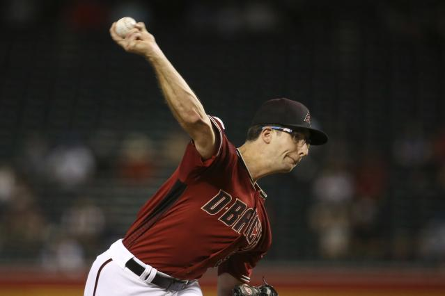 Arizona Diamondbacks starting pitcher Zac Gallen throws to a San Diego Padres batter during the first inning of a baseball game Wednesday, Sept. 4, 2019, in Phoenix. (AP Photo/Ross D. Franklin)
