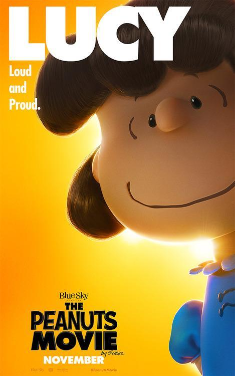 Lucy 'Peanuts' movie poster