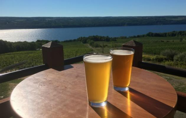 Have a beer with a view at Two Goats Brewing in Finger Lakes.