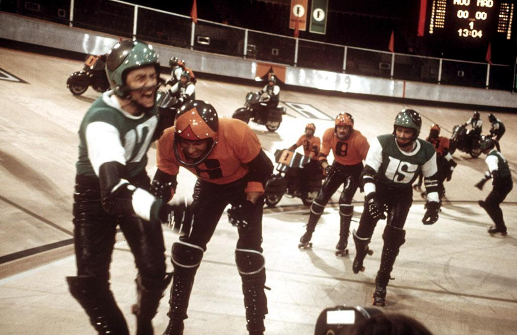 """Rollerball"": In the future, games are deathly serious -- like this gladiatorial version of roller derby, originally made with James Caan as the athlete who becomes too big for his skates (1975), and less memorably remade with Chris Klein (2002)."