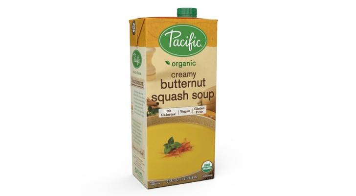 "<p>""I love this <span>Pacific Organic Creamy Butternut Squash Soup</span> ($4) to use as a base for adding other veggies, beans, and cooked rice."" - Jenny Sugar, contributing editor, Fitness</p>"
