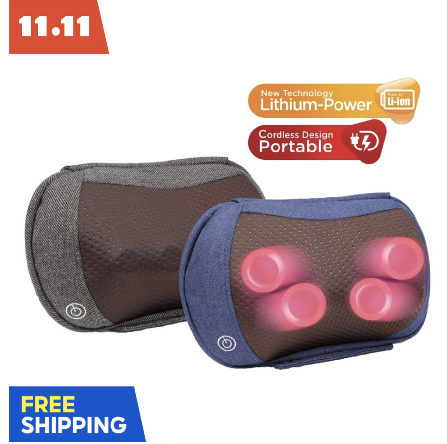 KneadMe V2 Rechargeable Neck, Shoulder, foot massager. PHOTO: Shopee