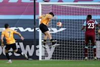 Raul Jimenez made Wolves' Champions League dreams look more realistic after scoring at West Ham