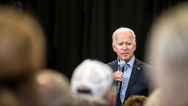 PHOTO: Democratic presidential candidate and former US Vice President Joe Biden addresses a crowd at a town hall event at Clinton College, Aug. 29, 2019, in Rock Hill, South Carolina. (Sean Rayford/Getty Images)