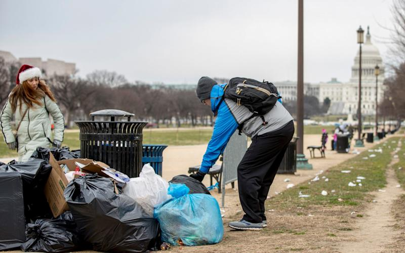 Rubbish outside the US Capitol - AP