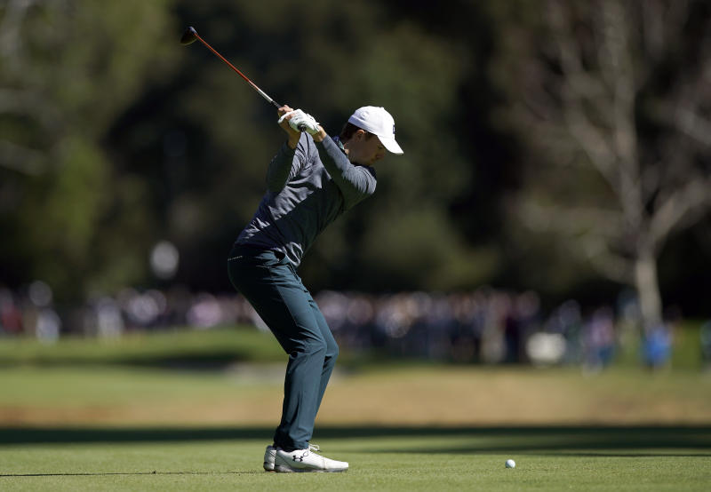 Thomas seizes Riviera lead as Woods surges