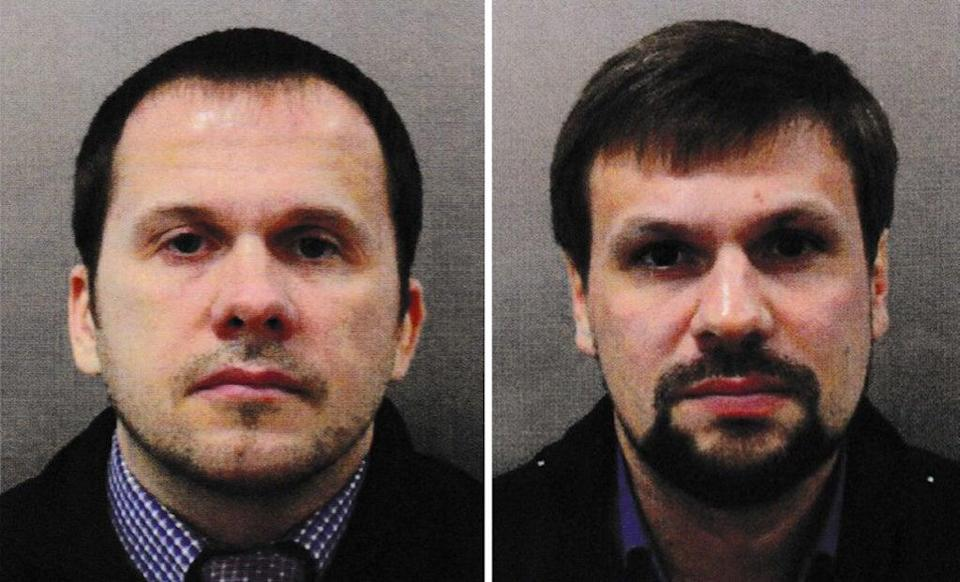 Alexander Petrov, left, and Ruslan Boshirov, who were named as suspects by police in 2018 (Metropolitan Police/PA) (PA Media)