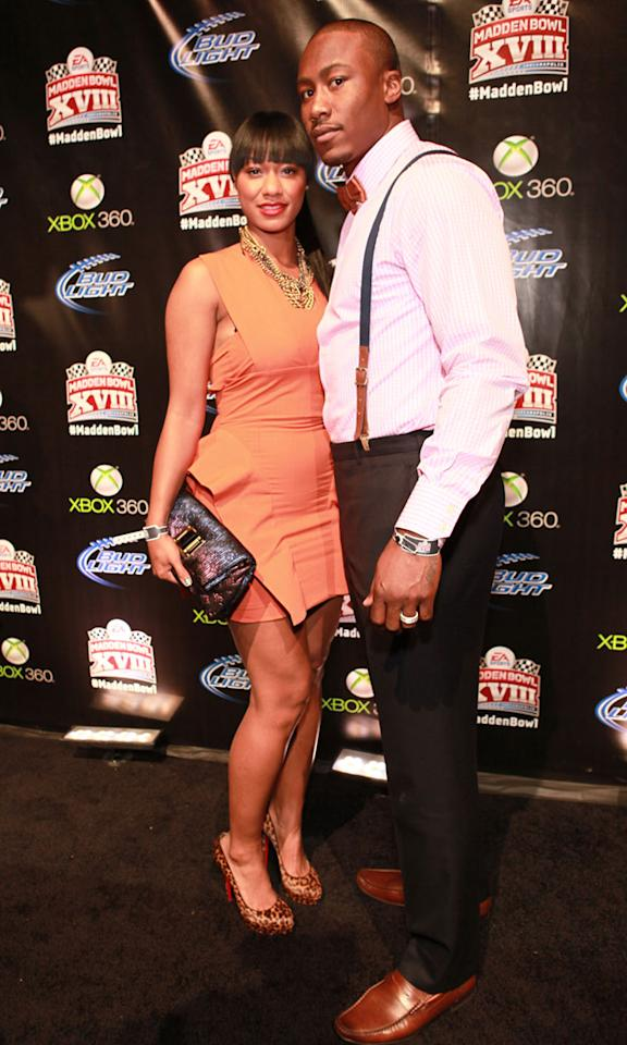 Miami Dolphins wide receiver Brandon Marshall looked quite dapper while posing with wife Michi Nogami-Marshall.