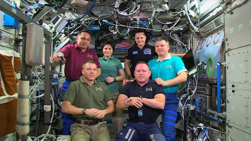 NASA astronauts at the International Space Station (ISS)