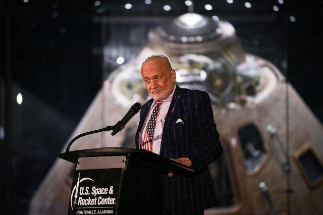 Buzz Aldrin has landed -- for the Apollo 11 anniversary