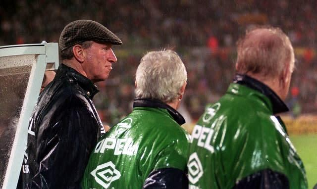Jack Charlton, left, during his time in charge of the Republic of Ireland (PA)