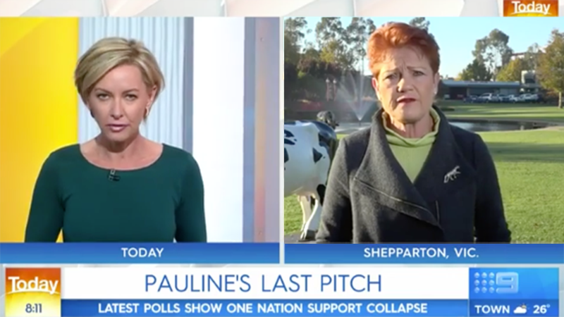 Pauline Hanson talks Uluru Climbing ban on the Today show with deborah knight