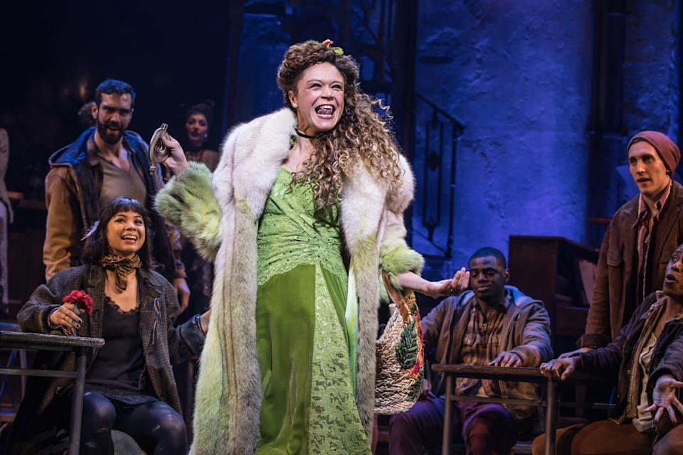 """Amber Gray and the original Broadway cast of Hadestown."""""""