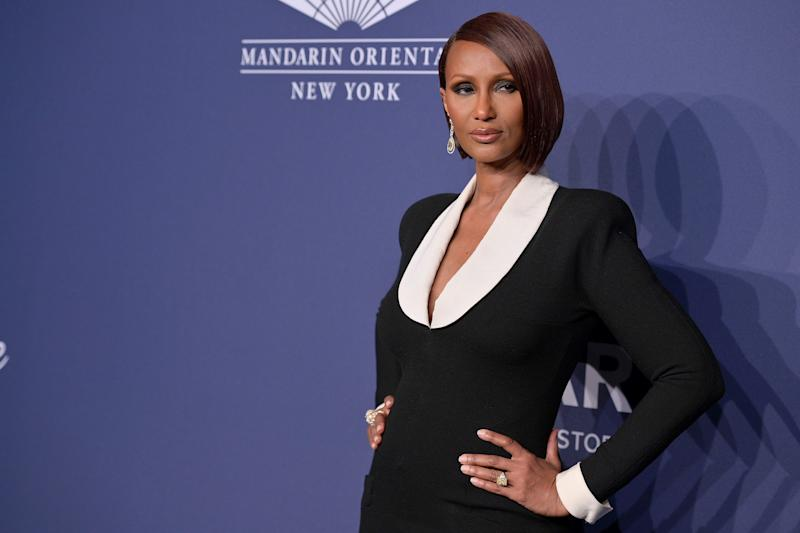 NEW YORK, NEW YORK - FEBRUARY 05: Iman attends the 2020 amfAR New York Gala on February 05, 2020 in New York City. (Photo by Michael Loccisano/WireImage,)