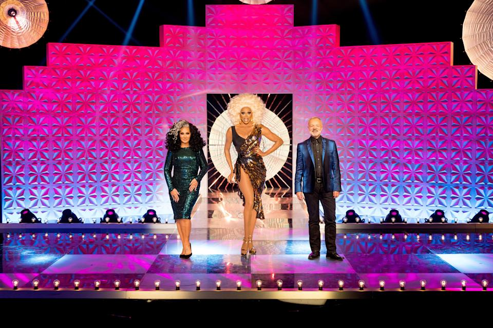 Judges Michelle Visage, RuPaul and Graham Norton (World of Wonder/Guy Levy/PA)