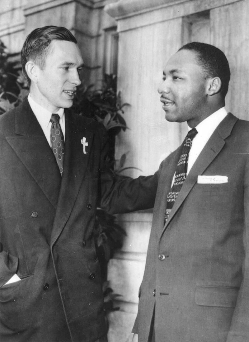 The Rev. Robert Graetz with the Rev. Martin Luther King in Montgomery in the 1950's. Graetz served as a Lutheran minister and led MontgomeryÕs all black Trinity Lutheran Church, and was an early and outspoken advocate of racial equality--he and King became good friends.