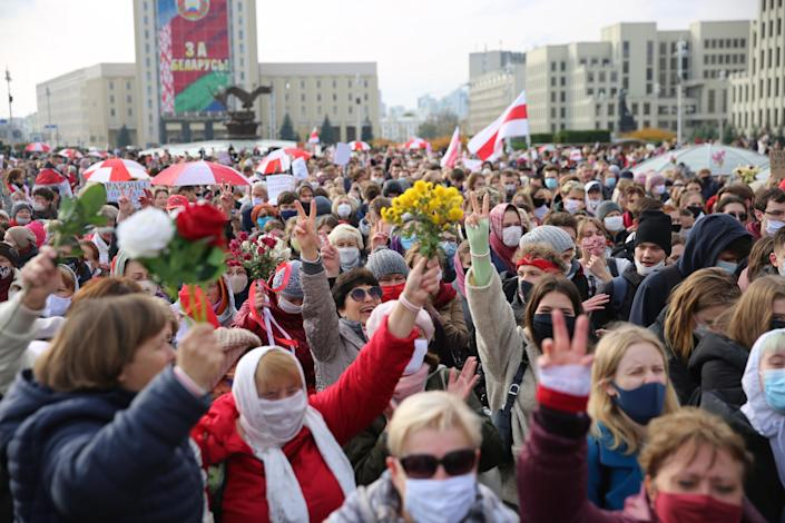 Belarus Protests (Copyright 2020 The Associated Press. All rights reserved)
