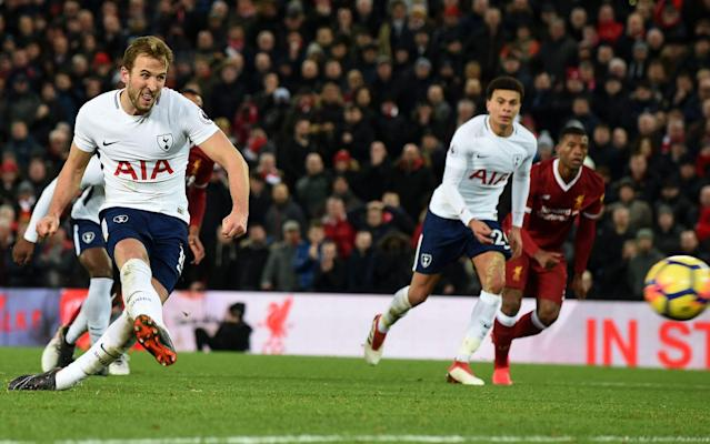 "Harry Kane has become the first Tottenham player to score 100 Premier League goals with his strike against Liverpool on Sunday seeing him join an illustrious group of strikers. The England forward becomes the second fastest player in Premier League history to reach the milestone behind Alan Shearer. Kane needed just 141 league appearances to hit the century mark, while former Blackburn and Newcastle striker Shearer achieved the feat after just 124 appearances. Manchester City striker Sergio Aguero reached his three-figures mark after 147 appearances. When Kane is at his explosive best It's proving an altogether frightening task for Premier League defenders up and down the country to contain Kane, who in 2017 broke Shearer's record for most league goals scored in a calendar year with 39. If rival teams are confident of stifling Kane and stopping his goal glut, then they should be alert and on their guard at the start of every second half. Harry Kane 100 goals - Quickest players to reach 100 goals Kane is at his most prolific straight after the break with 23 of his 100 Premier League goals coming in the 46-60 minute mark. The 24-year-old has a better strike record in the second half and has struck over half his goals (56) as he steps up his influence on matches. The England striker has also proved lethal in stoppage time, scoring eight goals beyond the 90th minute mark with two of those goals proving late winners for Spurs. When Kane has scored his Premier League goals The clubs who fear facing Kane Leicester should be anxious about their final day of the season trip to Wembley on Sunday, May 13. Kane has proved a thorn in the 2015/16 champions' side and has struck nine goals in just 534 minutes against them over six Premier League matches. Kane scored four goals against Leicester at the King Power Stadium last May in a 6-1 win for Spurs and scored a double, including one from the penalty spot, in a seven-goal thriller which Tottenham shaded in March, 2015 against Nigel Pearson's side. Which Premier League teams has Kane scored against? Stoke have also been on the receiving end of Kane's scoring boots with the Potteries club conceding eight goals in eight games. Of the 'big six' clubs in the league, Tottenham's north London rivals Arsenal have suffered worse at the hands, or more aptly, the feet of Kane. The England man has averaged a goal a game against their arch enemy. Manchester City, and more interestingly, Newcastle and Watford have managed to stem Kane's flow of goals. While City have limited Kane to just two goals in 494 minutes of action, Watford have conceded two goals in 376 minutes and Newcastle one goal in 387 minutes. Harry Kane 100 goals - Premier League career How Kane has scored his goals Kane revealed that his favourite goal of a record-breaking 2017 was not one against Arsenal, nor one in the Champions League but one in the lower-key surroundings in west Yorkshire. ""I liked the one against Huddersfield... outside the box on my left foot,"" he said at the end of December. While the left side is Kane's so-called weaker side, he has still contributed 26 goals, nearly half of that achieved on his world-class right side (60). Harry Kane 100 goals - Where and how Kane scores his goals The only thing missing from Kane's collection remains a 'perfect' hat-trick, something his goalscoring rival Aguero has managed twice in the league in the past two and a half years. The Argentine's treble against Newcastle earlier this month was the first right foot, left foot and header combination since Aguero scored one against the same opposition in October 2015. The strikers in Kane's shadows Since Kane scored his first Premier League goal against Sunderland on April 7, 2014, only Aguero has come close to rivaling the 6ft 2in forward in the goalscoring stakes. The Manchester City man has struck 88 goals during the same period, while Romelu Lukaku has scored 66 for two different Premier League clubs. Top 10 hitmen since Kane scored his first Premier League goal Alexis Sanchez, who completed his move to Manchester United in the transfer window, meanwhile, trails Kane by 39 goals. Kane had already established himself as highest goalscorer in Tottenham's Premier League history when he surpassed his childhood idol Teddy Sheringham's haul of 97 in January."