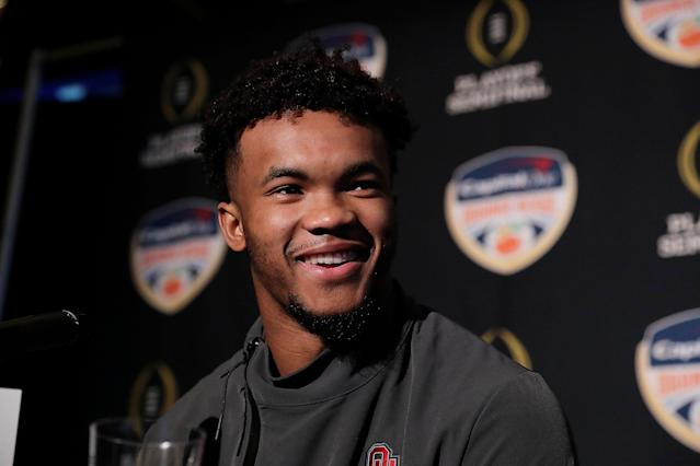 Oklahoma quarterback Kyler Murray could be the first pick of the NFL draft. (AP)