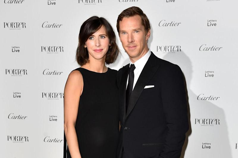 New arrival: Benedict Cumberbatch and wife Sophie Hunter reportedly became parents for the second time: Matt Crossick/PA