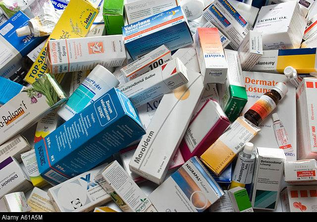 A range of drugs and other medical products. - Credit: Alamy