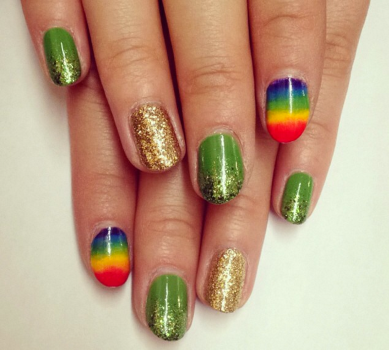This faded rainbow nailmight be my favorite one on here.