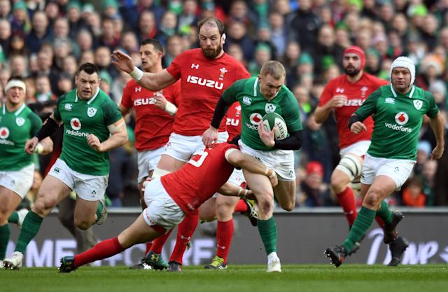 Rugby Union - Six Nations Championship - Ireland vs Wales - Aviva Stadium, Dublin, Republic of Ireland - February 24, 2018 Ireland's Keith Earls in action REUTERS/Clodagh Kilcoyne