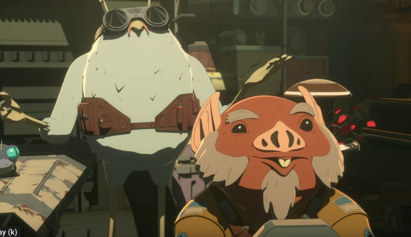 Flix and Orka in Star Wars Resistance (Credit: Disney)
