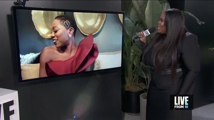"""Host Nina Parker interviews Emmy-nominated Yvonne Orji (""""Insecure"""") in """"E! Countdown to the Red Carpet."""""""