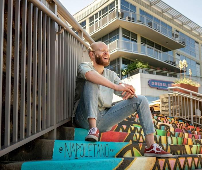 Join local photographer and podcast host Gavin Boulware for a photo workshop celebrating Albinism Awareness Day. Mural by Nick Napoletano.